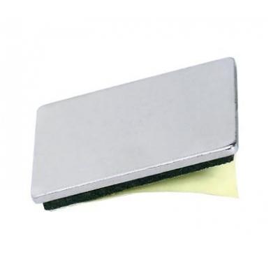 Stačiakampė priklijuojama plokštelė 26x22 mm, nikelis