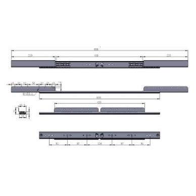 Stalo išplėtimo mechanizmas 600/430mm, h-40mm 2