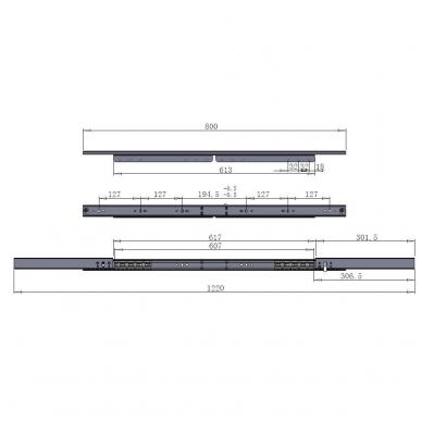 Stalo išplėtimo mechanizmas 800/620/1220mm su stabdžiu 3