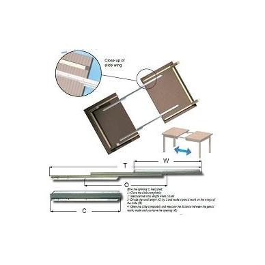 Stalo ištraukimo mechanizmas 400/530 mm, ištr.850 mm, apkrova 80 kg