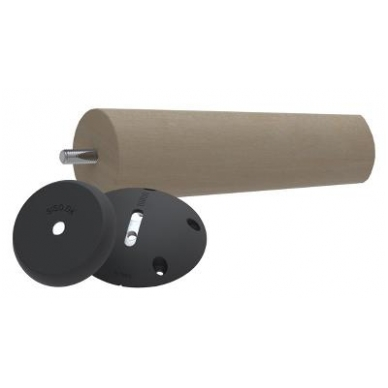 """Stalo kojos jungtis \Twister\"""" D.107x27 mm, juoda, su kampo reguliavimo funkcija"""" 2"""