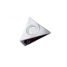 Trikampis halogenas AIRONE-M su jungtuku plienas