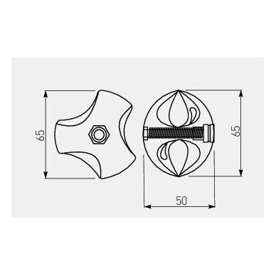 Trikryptė jungtis, kairė 2