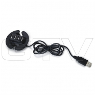USB šakotuvas, juodas