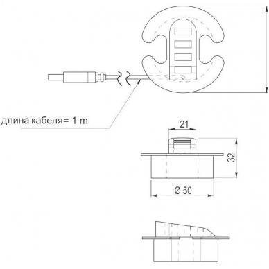 USB šakotuvas, pilkas 2