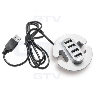 USB šakotuvas, pilkas