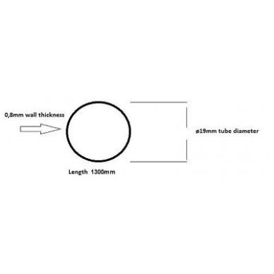 Vamzdukas D.19x1300 mm, 0,8 mm storis, chromas 2