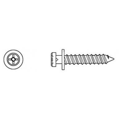 Varžtelis 5069 4 mm L-25,4 mm, cinkas 2