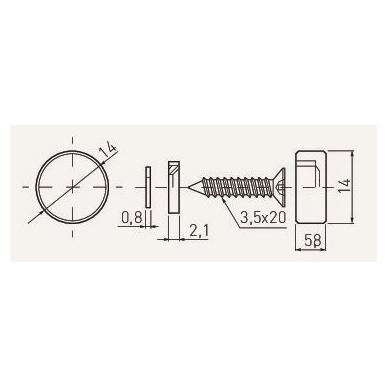 Veidrodžio laikiklis D.14 mm, nerūd. plienas 2
