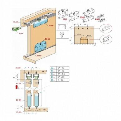 Viršutiniai aliuminio bėgeliai 3 m