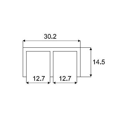 Viršutinis aliuminio bėgelis stiklo sistemai 8600, 2 m 2