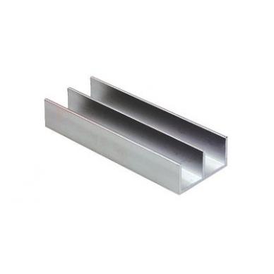 Viršutinis aliuminio bėgelis stiklo sistemai 8600, 2 m