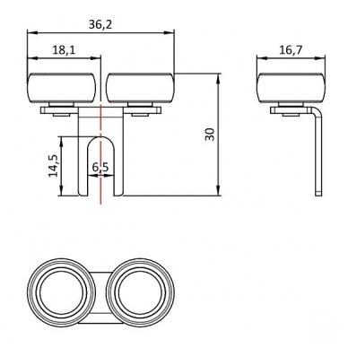 Viršutinis šliaužiklis aprėminimo sistemai 10 mm 2